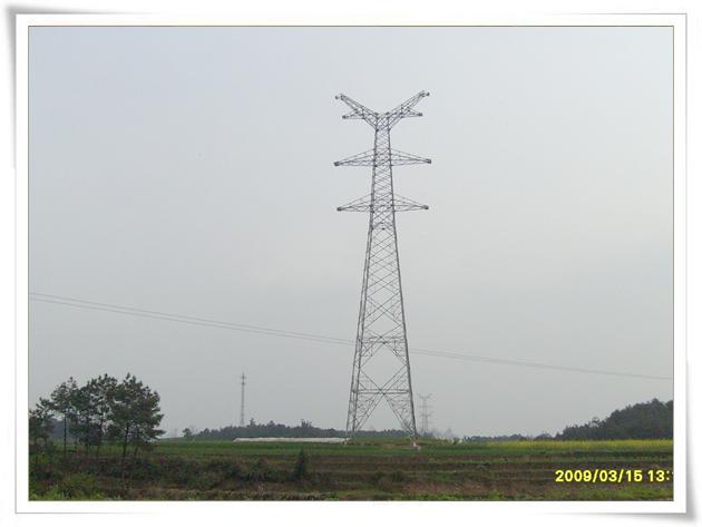 城南至孜岩220千伏双回线路新建工程铁塔组立完成