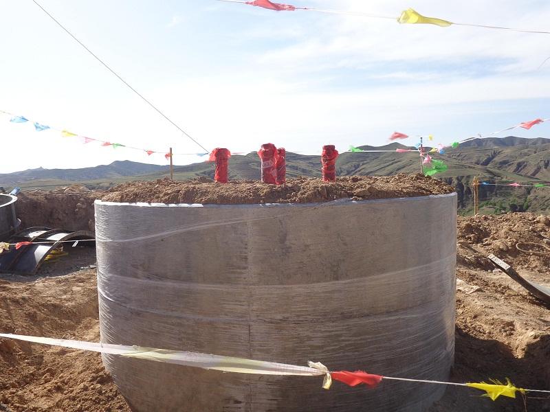 蒙天特高压线路全面开工并开始基础浇制