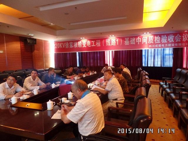 220kV徐家坝送电工程通过基础中间验收