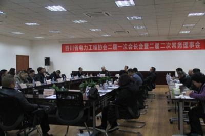 公司总经理陈云出席四川省电力工程协会二届一次会长会暨二届二次常务理事会