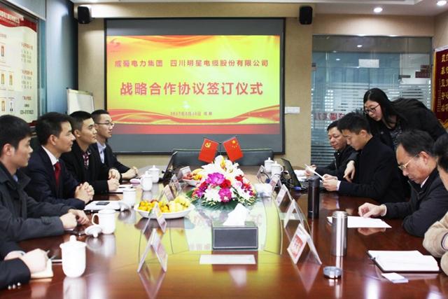 明星电缆公司与我司签订战略合作协议