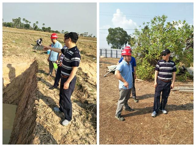 陈云总经理到柬埔寨工程检查指导工作