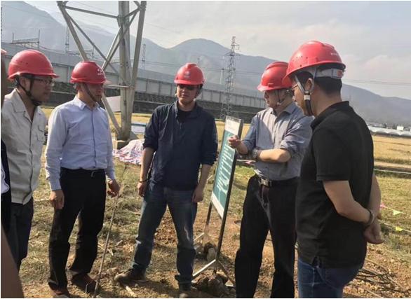 陈云总经理陪同国网省电力公司副总经理刘勇现场检查工作
