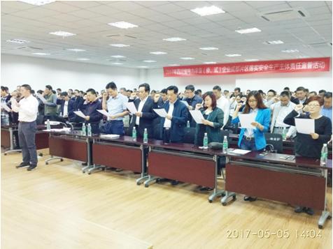 公司副总经理兼总工顾大东参加落实安全生产主体责任宣誓活动