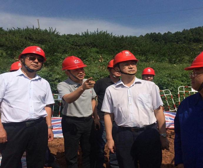 国网四川省电力公司副总经理刘勇到成蜀电力500kV桃资线施工现场检查工作