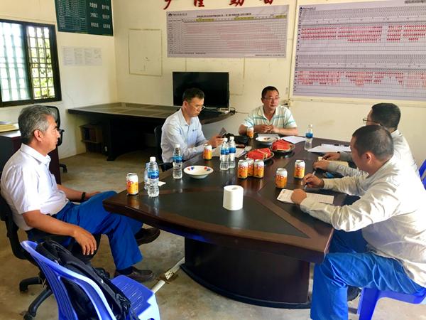 中国重型机械公司领导莅临集团柬埔寨项目视察指导工作