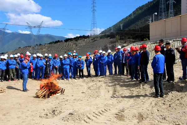 川藏铁路拉萨至林芝段供电配套工程 输变电工程举行森林防火等应急演练
