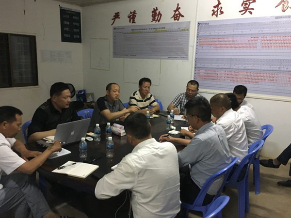 陈云总经理一行到柬埔寨230kV变电站及线路工程视察指导工作