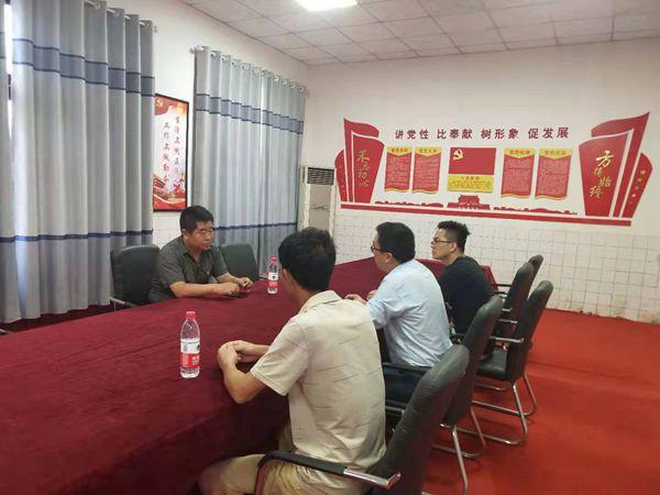 内黄县二安镇纪委书记莅临成蜀集团内黄项目部调研党建工作