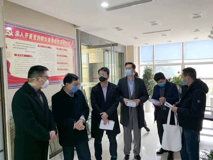 府南街道人大工委主任刘庆一行赴集团调研防疫相关工作及复工复产