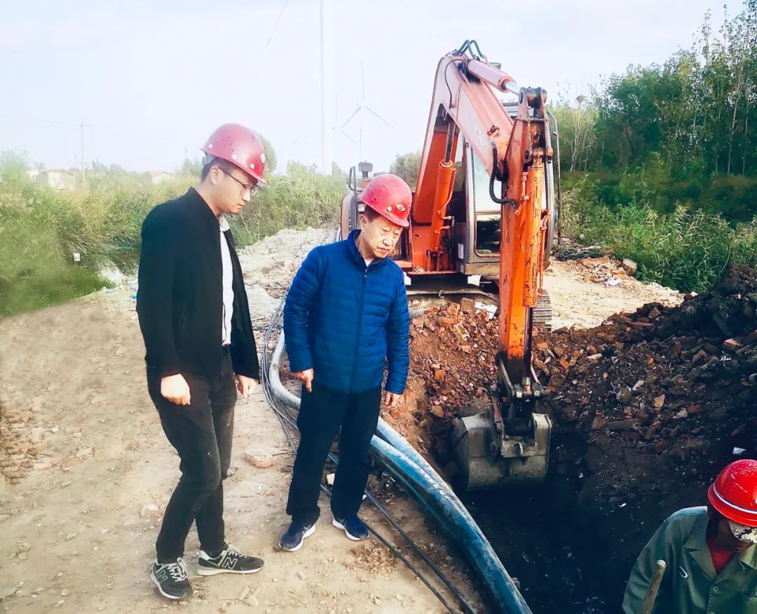 集团副总经理刘毅赴杨家泊配电工程检查指导工作