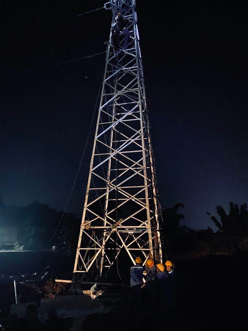 锁天线迁改工程顺利完成并恢复送电