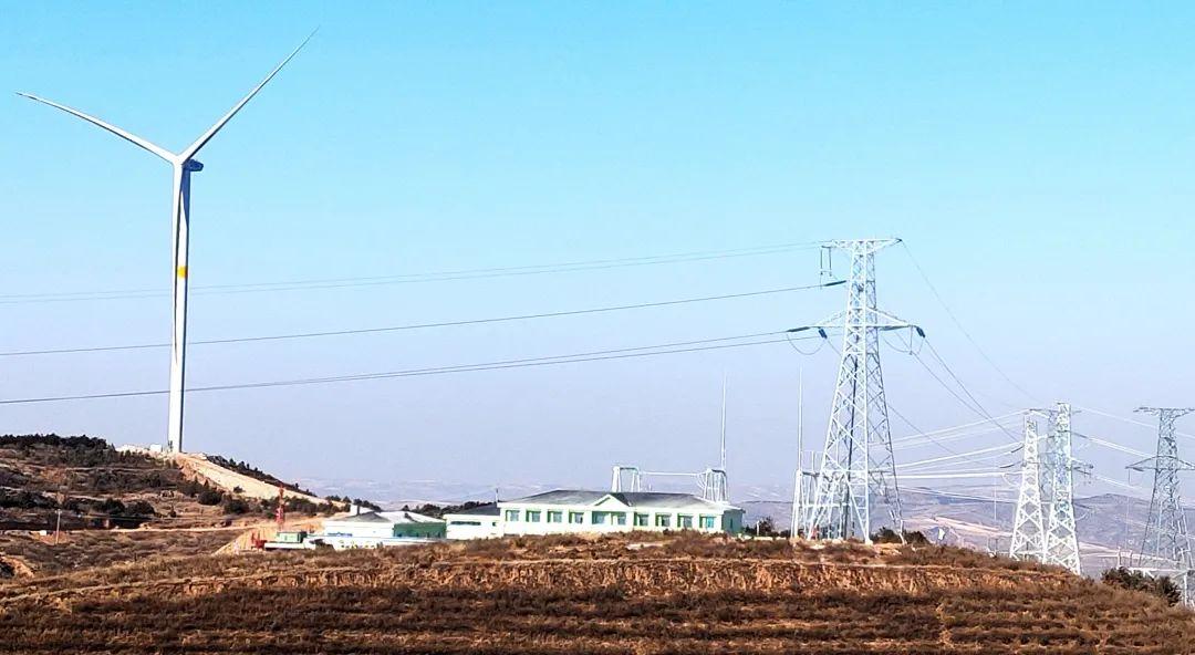 捷报连连!五寨韩家楼50MW风电场220kV送出工程送电一次成功